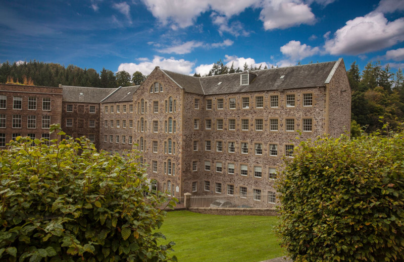 Exterior view of New Lanark Mill Hotel.