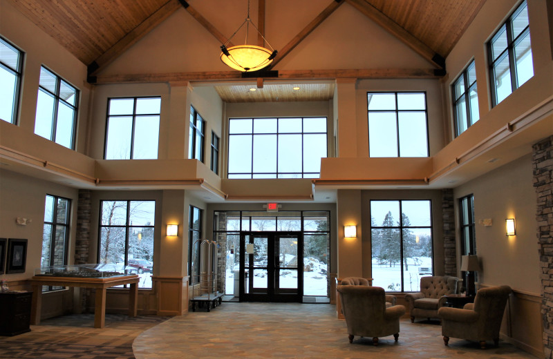 Lobby at Northernaire Resort.