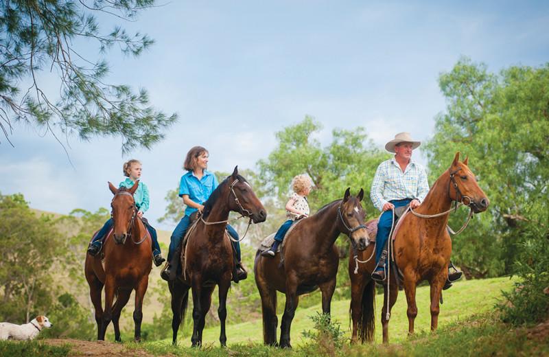 Horseback riding at Shamrock Bay Resort.