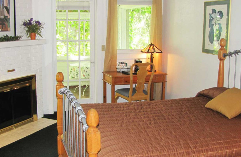Guest house interior at Heidel House Resort.