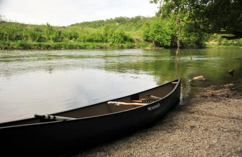 Canoeing at Cedar Valley Resort.
