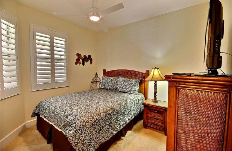 Rental bedroom at Barefeet Rentals.