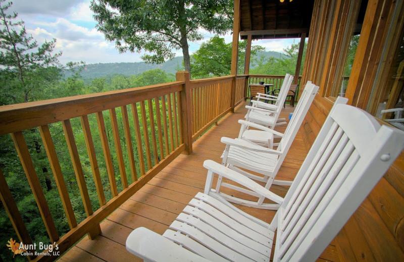 Bon Cabin Balcony At Aunt Bugu0027s Cabin Rentals, LLC.