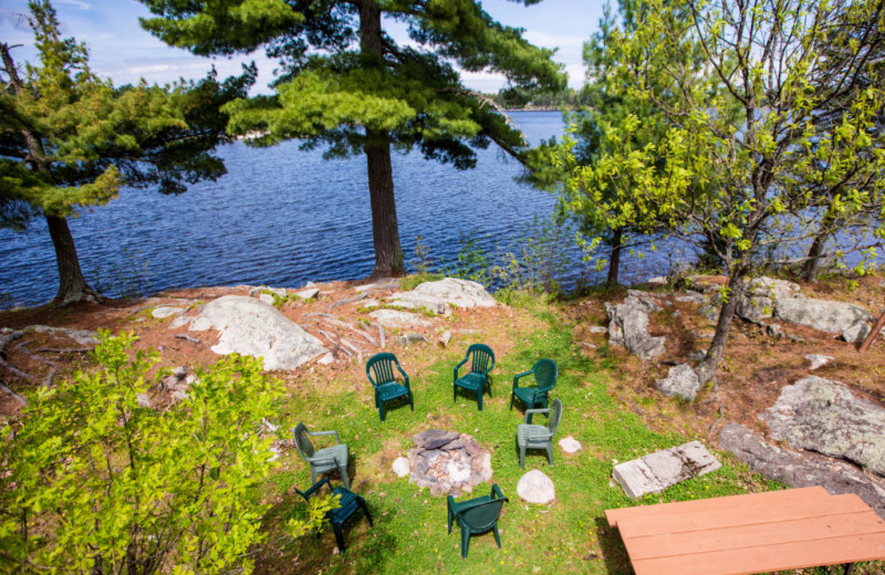 Patio at Kabetogama Lake Association.