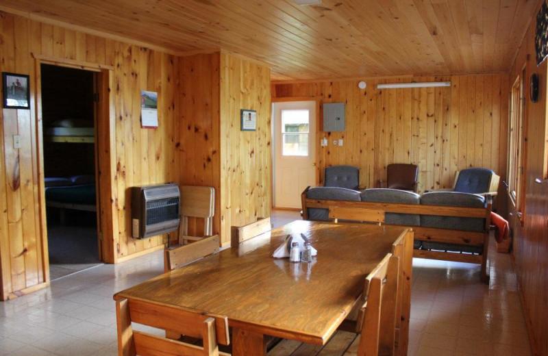 Cabin Interior at Cedar Island Lodge