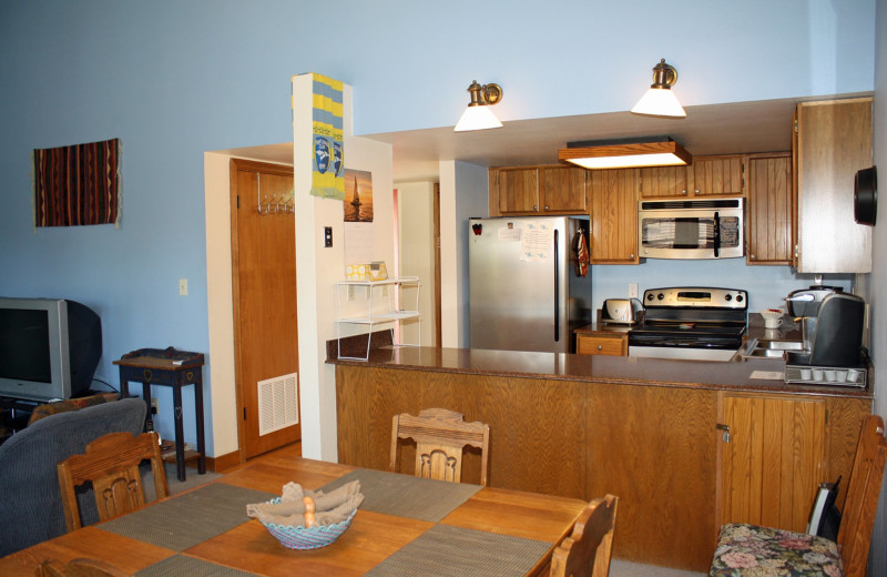 Guest kitchen at Ferringway Condominiums.