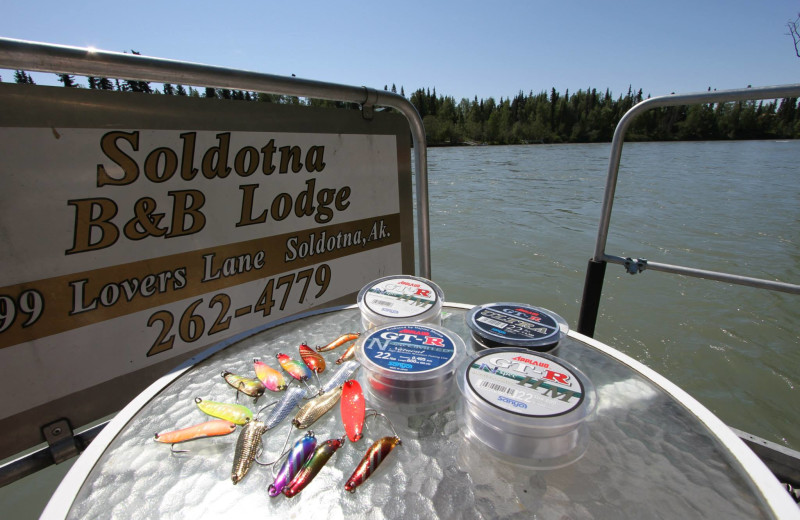 Fishing supplies at Soldotna B&B Lodge and Alaska Fishing Charters.
