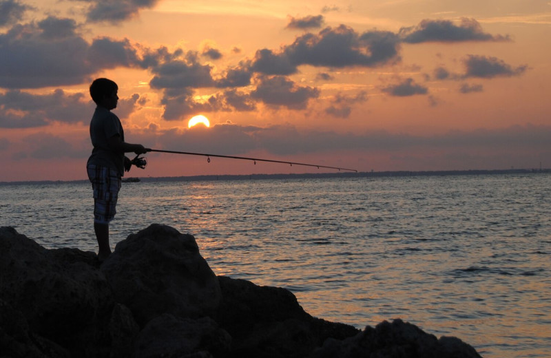 Fishing at Resort Vacation Properties of St. George Island.