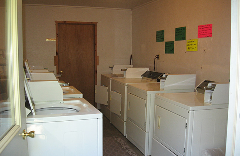 Laundry facilities at Little Norway Resort.