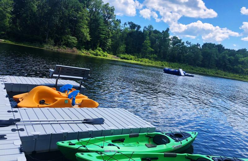 Lake activities at Cove Haven Entertainment Resorts.