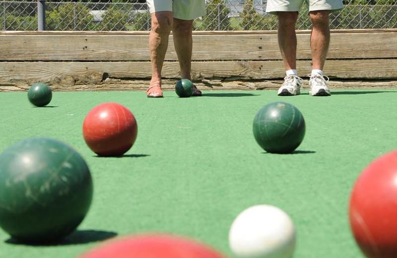Bocce ball at Lake George RV Park.