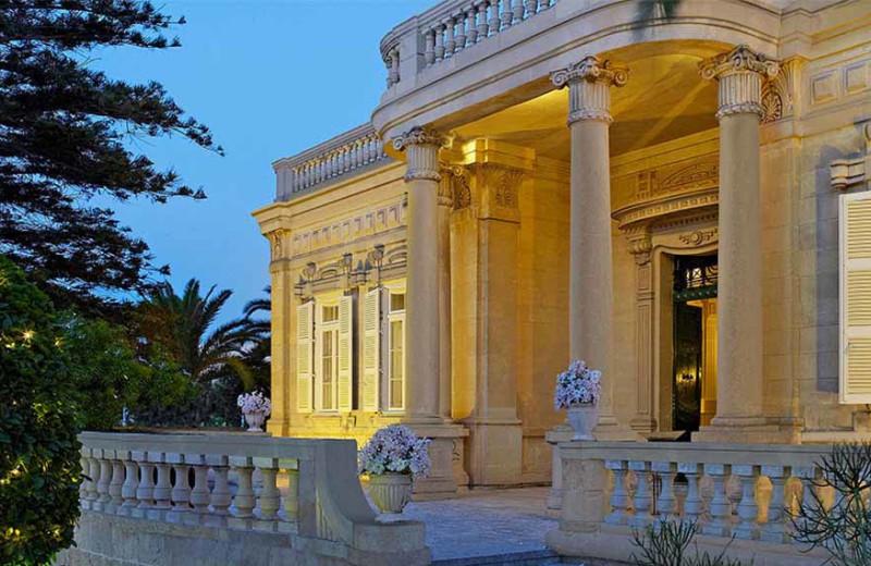 Exterior view of Corinthia Palace Hotel.