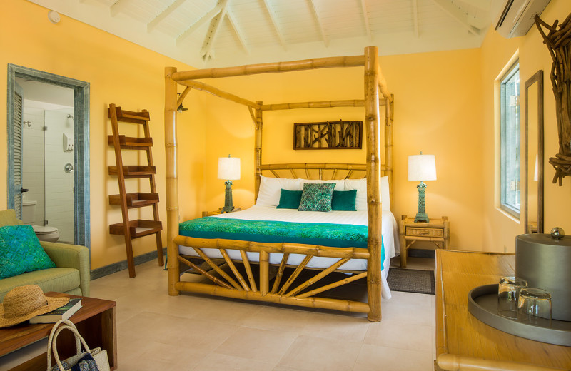 Guest room at Country Country Beach Cottages.