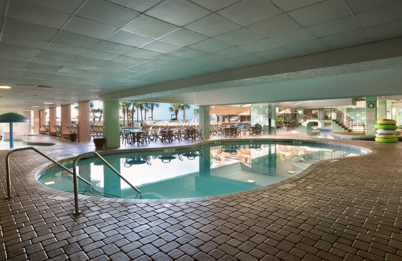 Indoor pool at Long Bay Resort.