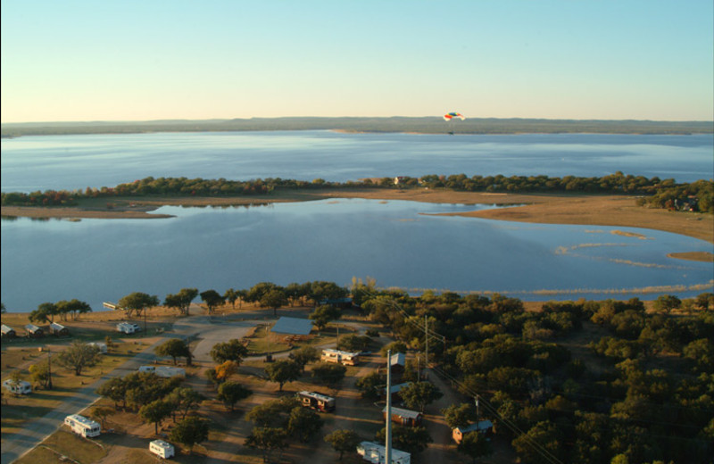 Aerial view of Big Chief RV Resort.