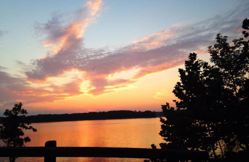 Sunset at Mountain Harbor Resort & Spa.