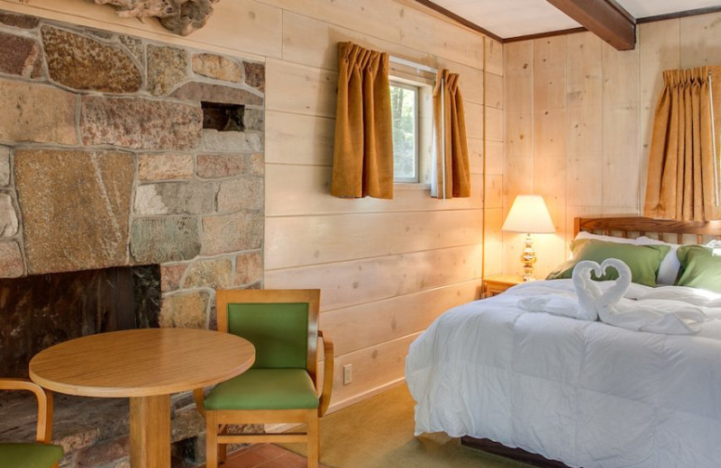 Guest room at North Cascades Lodge at Stehekin.