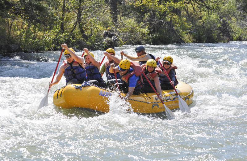Rafting at Oyhut Bay Seaside Village.