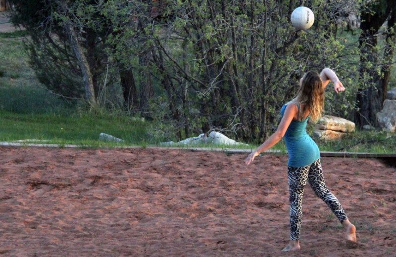 Volleyball at Zion Ponderosa Ranch Resort.