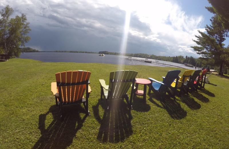 Lake view at Sandy Point Resort.