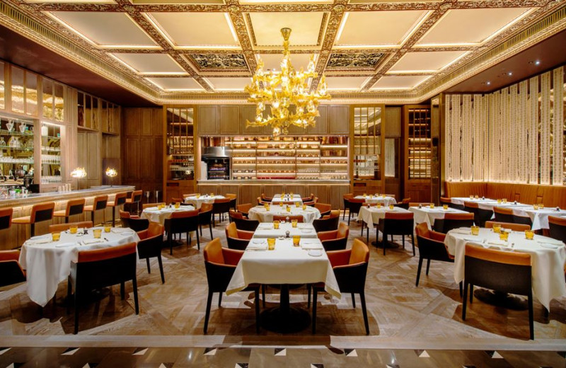 Dining at The Dorchester.