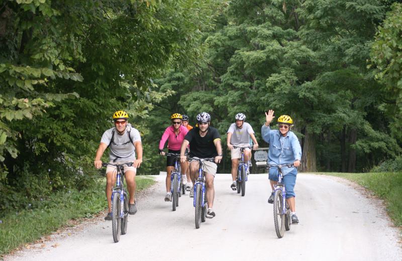 Biking at Tyler Place Family Resort.