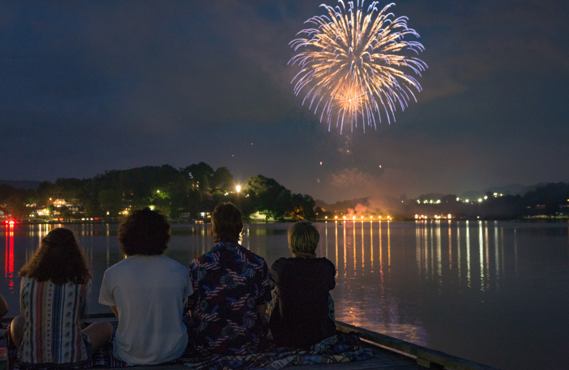 Fourth of July fireworks light up the night sky over Lake Junaluska.