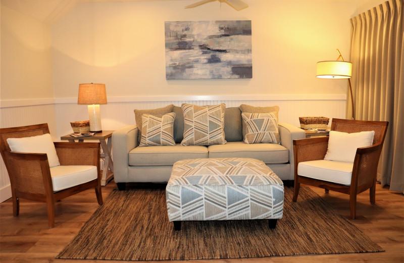 Rental living room at Sunnyside Resort Rental Company.