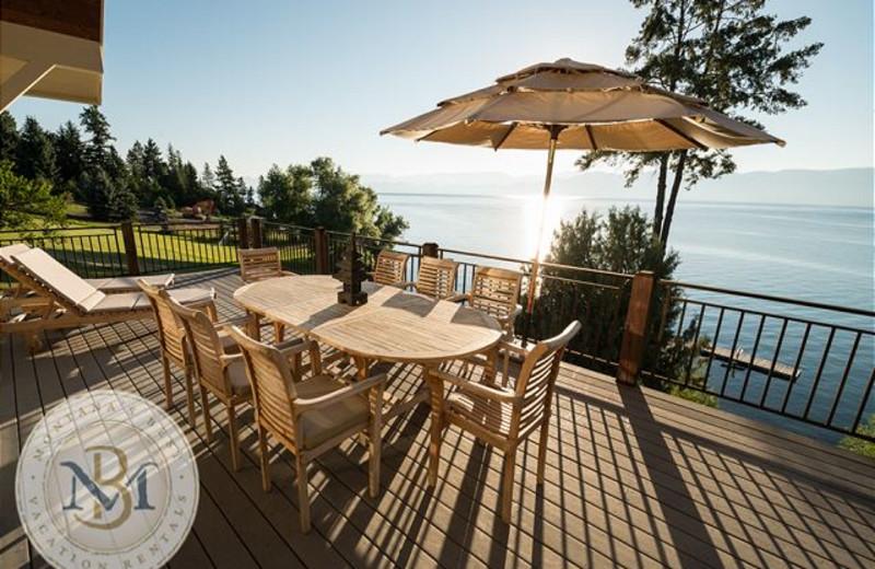 Rental patio at Montana's Best Vacation Rentals LLC.