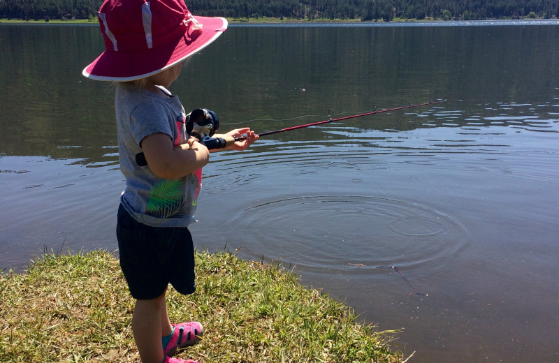 Fishing at Pine River Lodge.
