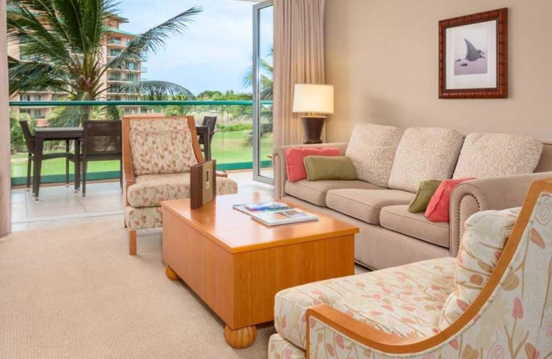 Guest living room at Honua Kai Resort & Spa.