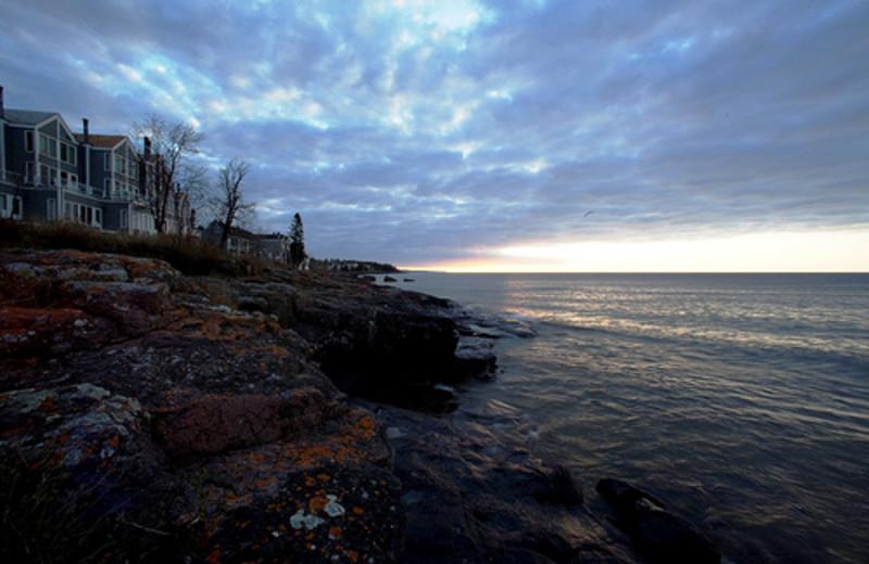 Lake view at Bluefin Bay on Lake Superior.