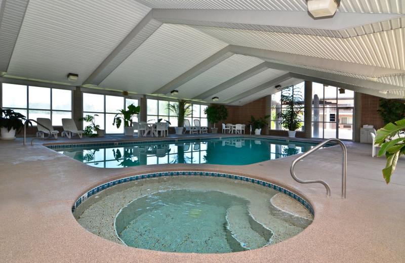 Indoor pool at Abbey Inn.
