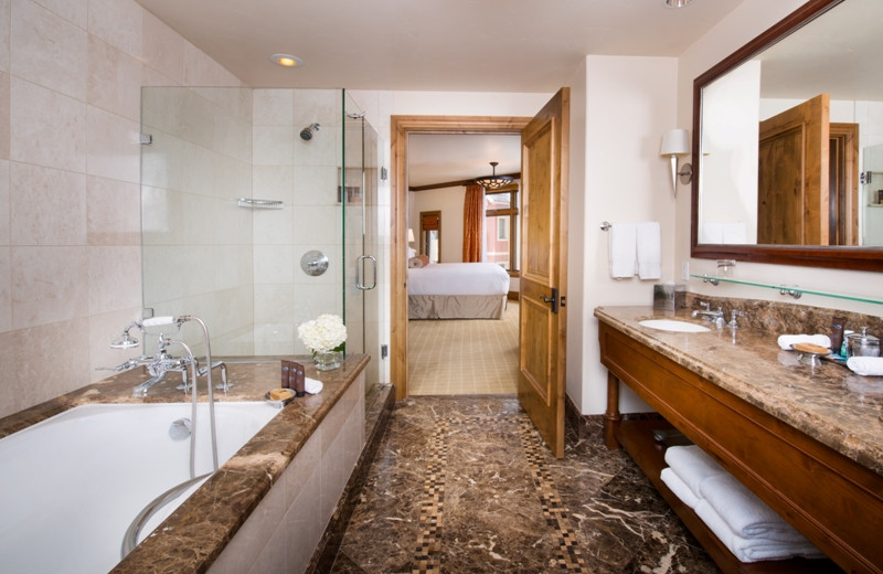 Guest bathroom at The Arrabelle at Vail Square, A RockResort.