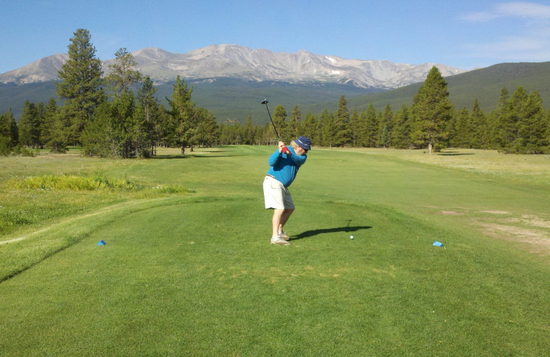 Mt Massive golf course in Leadville is one for the less stressful golfers. For more challenge there are courses in Vail, Beaver Creek, Breckenridge, Copper Mtn and Keystone - all with in a 45 minute drive