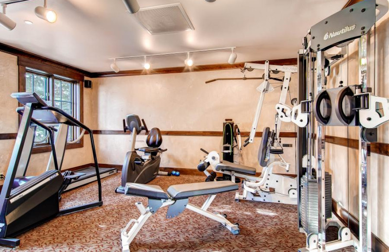 Fitness center at The Borders Lodge.
