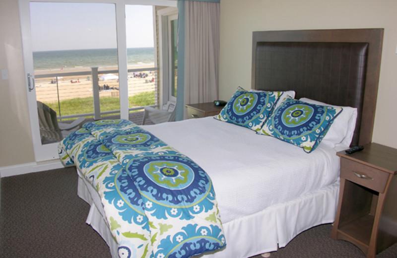 Guest bedroom at Alouette Beach Resort.