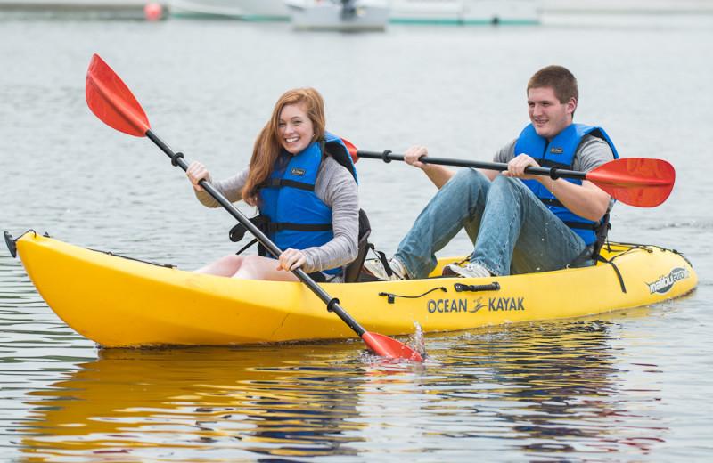 Kayaking at The Nonantum Resort.