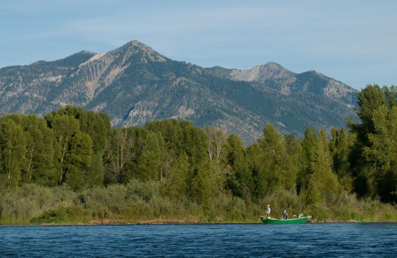 Scenic mountain view at Teton Valley Lodge.