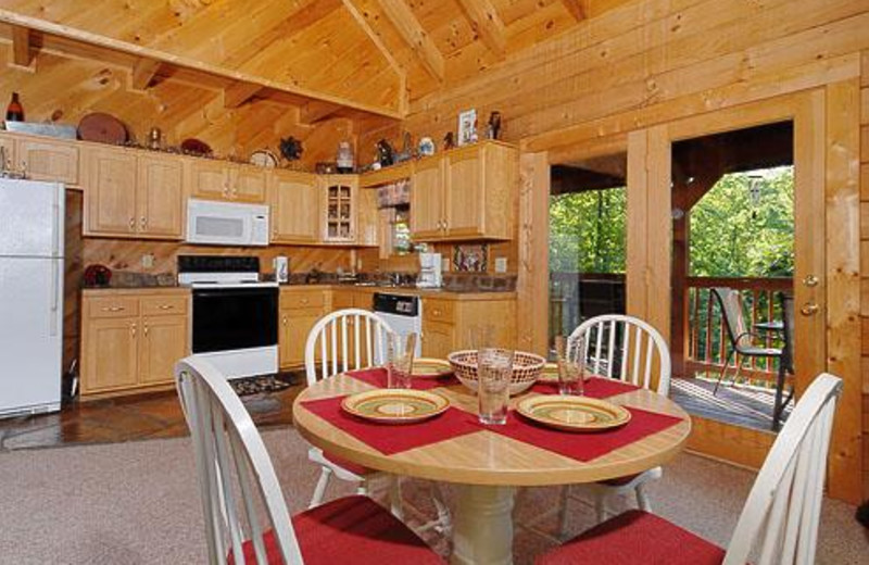 Cabin kitchen at Cabins For You.