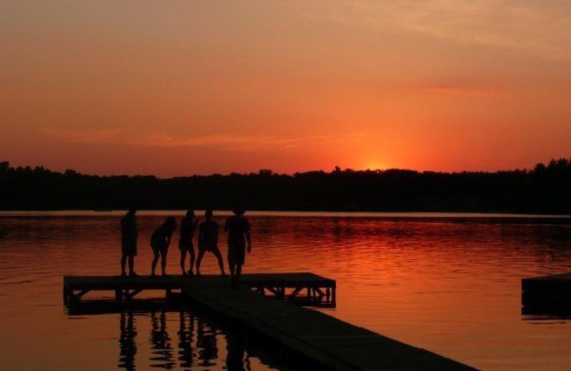 Sunset fishing at Holiday Acres Resort.