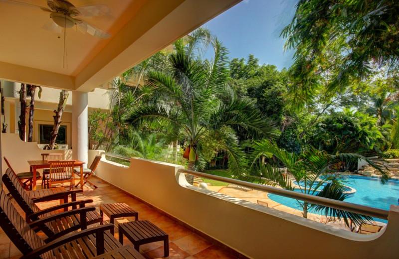 Balcony at Riviera Maya Suites.