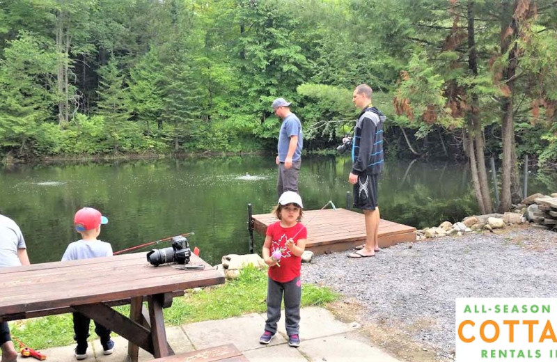 Fishing at All-Season Cottage Rentals.