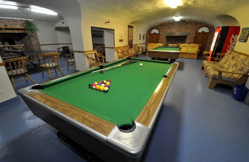 Game room at Hotel Tadoussac.