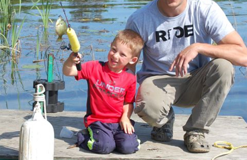 Fishing is great at Little Norway Resort - whether from the dock or boat - fun is always had!