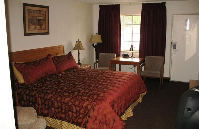 Guest room at Regency Inn and Suites.