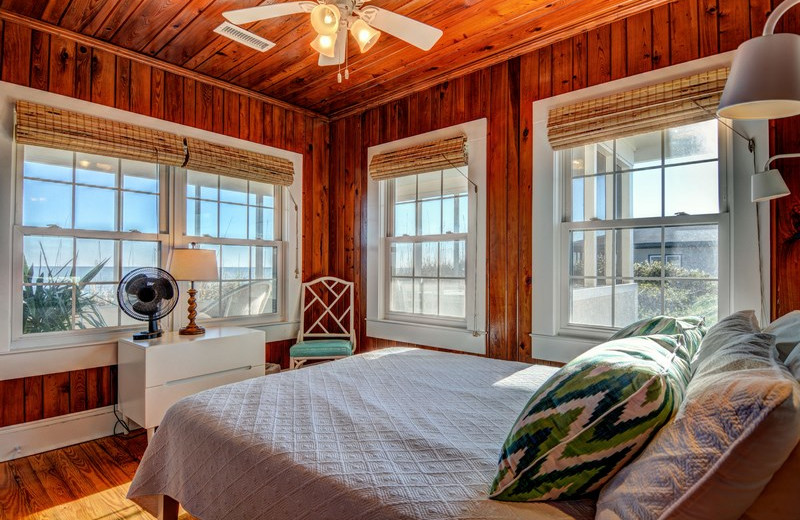Rental bedroom at Topsail Realty.