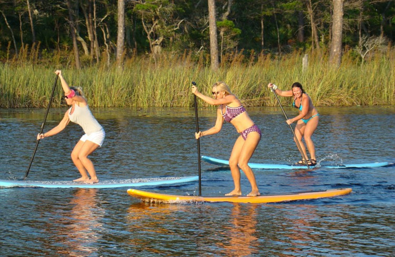 Paddle boarding at Beach Vacation, LLC.