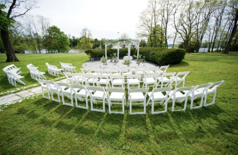 Outdoor wedding at Basin Harbor Club.