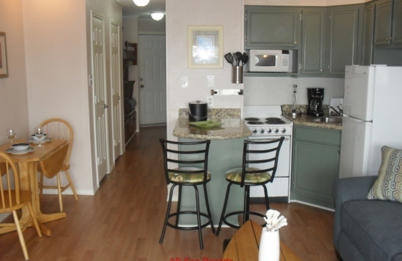 Rental kitchen at A B Sea Resorts.